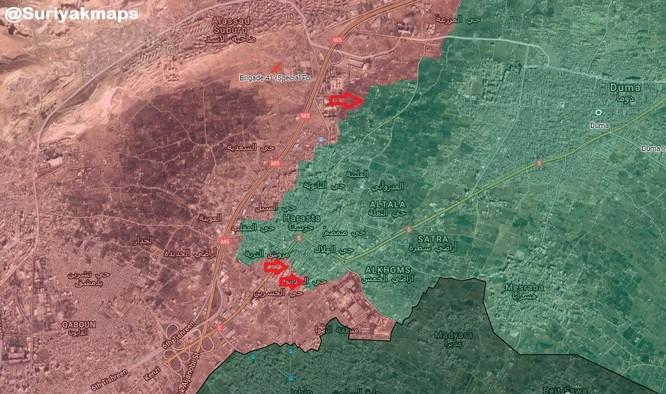 Nga dội bom, quân đội Syria tiến đánh sào huyệt thánh chiến Đông Ghouta ảnh 1