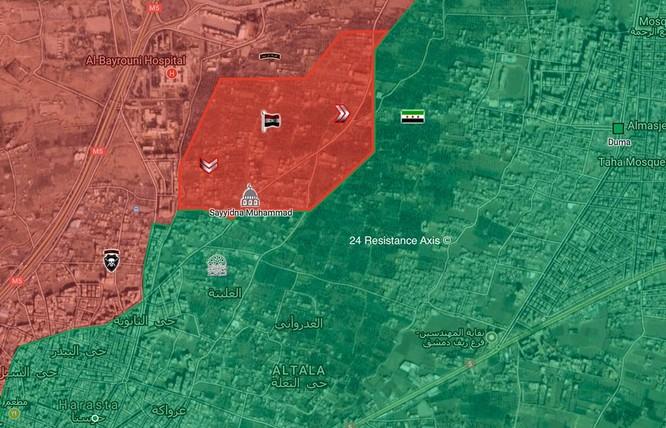 Quân đội Syria đập tan thánh chiến, chiếm một quận ở sào huyệt Đông Ghouta ảnh 1