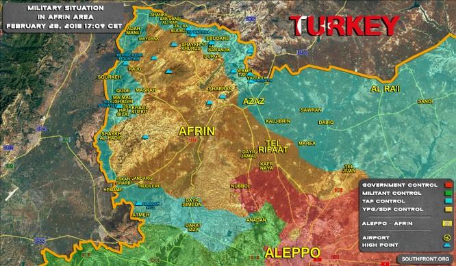 Quân Thổ Nhĩ Kỳ tung đòn bao vây người Kurd Syria ảnh 1