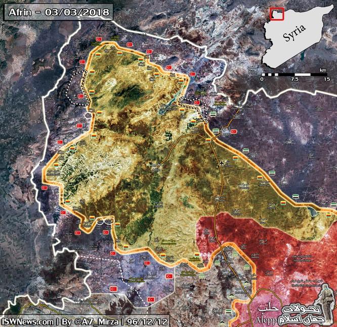 Người Kurd Syria vỡ trận, liên quân Thổ Nhĩ Kỳ chiếm nhiều địa bàn ở Afrin ảnh 1