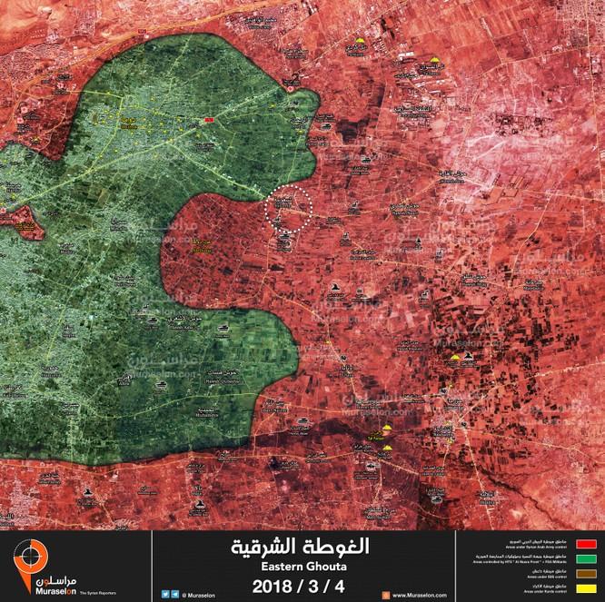 """""""Hổ Syria"""" nghiền nát phiến quân cố thủ, chiếm pháo đài thánh chiến tại tử địa Đông Ghouta ảnh 1"""