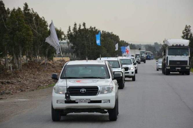 Quân Nga hộ tống hàng nhân đạo vào sào huyệt thánh chiến Đông Ghouta ảnh 3
