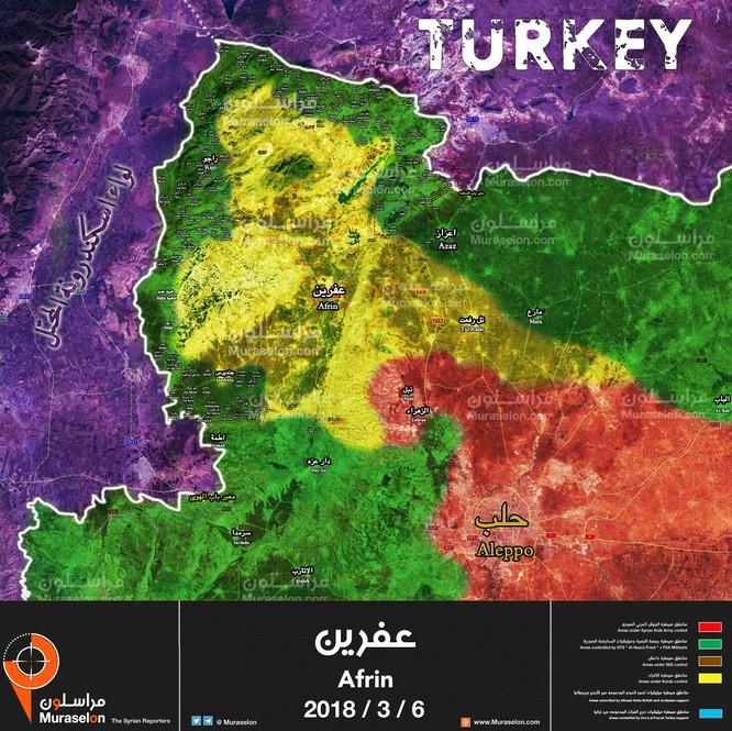 Người Kurd Syria ngừng đánh IS, dồn binh chống quân Thổ tại Afrin ảnh 1