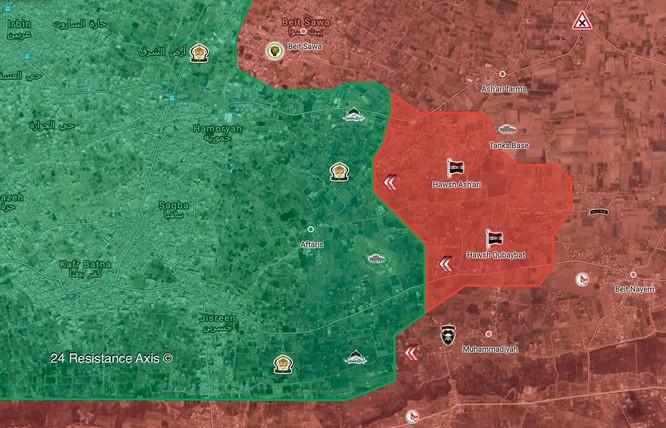 """""""Hổ Syria"""" bất ngờ tung đòn chiếm căn cứ ở Đông Ghouta, chiến tuyến Hồi giáo sụp đổ ảnh 2"""