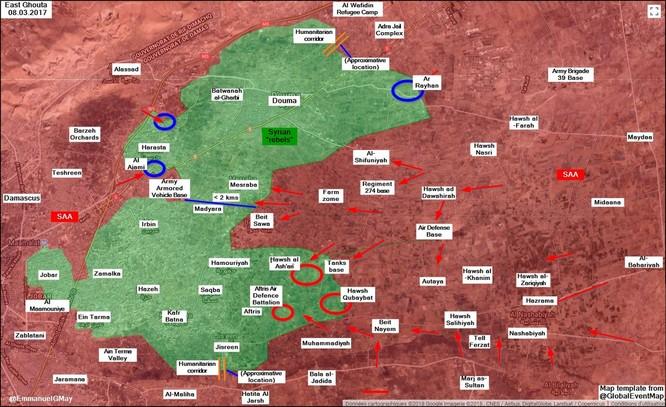 """""""Hổ Syria"""" bất ngờ tung đòn chiếm căn cứ ở Đông Ghouta, chiến tuyến Hồi giáo sụp đổ ảnh 1"""