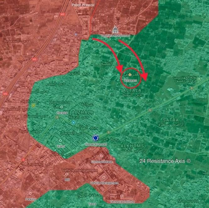 """""""Sư đoàn thép"""" Syria ác chiến đoạt địa bàn trọng yếu ở Đông Ghouta ảnh 1"""