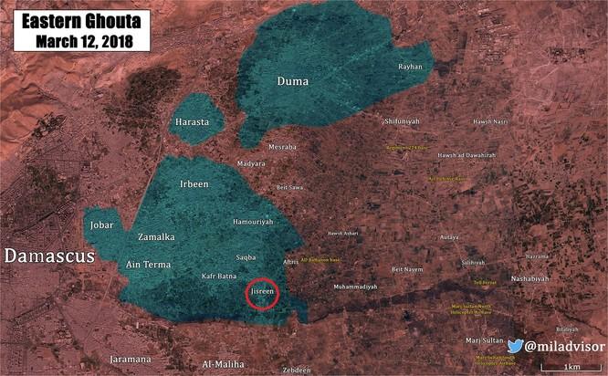 """""""Sư đoàn thép"""" Syria quyết đánh gục phe thánh chiến tử thủ Đông Ghouta ảnh 1"""
