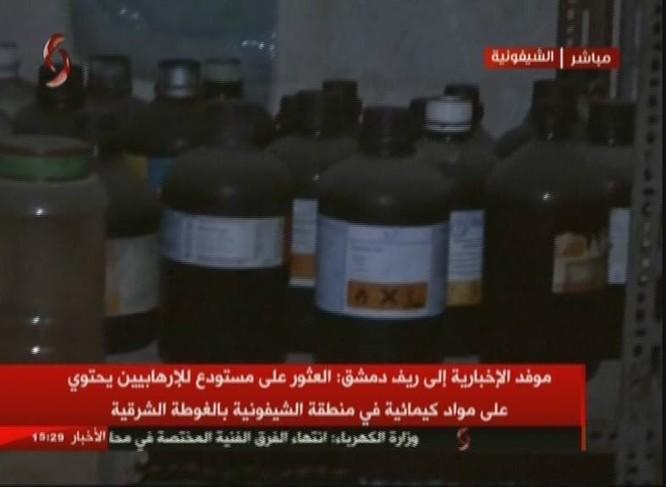 Quân đội Syria chiếm xưởng vũ khí hóa học lớn của phe thánh chiến ở Đông Ghouta ảnh 1