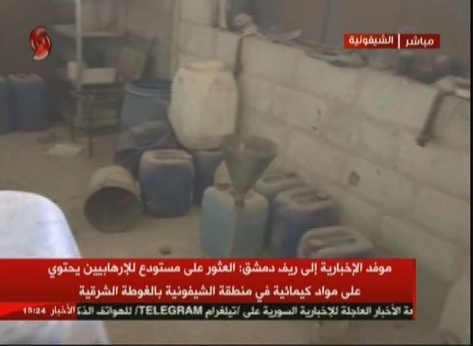 Quân đội Syria chiếm xưởng vũ khí hóa học lớn của phe thánh chiến ở Đông Ghouta ảnh 2