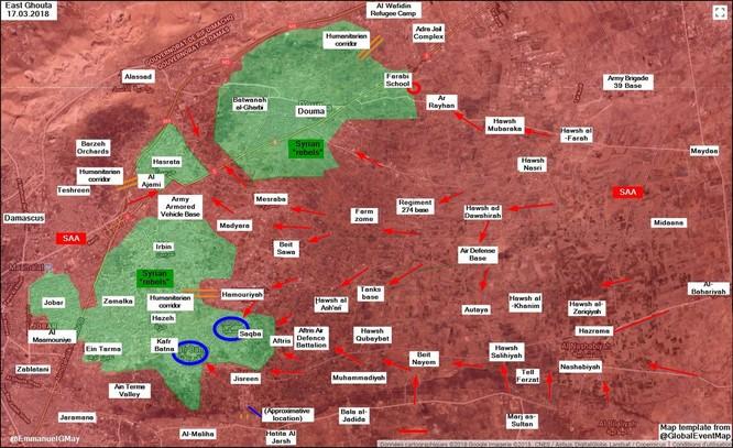 Nhóm thánh chiến lớn ở Đông Ghouta đầu hàng, quân đội Syria chiếm thị trấn then chốt ảnh 1