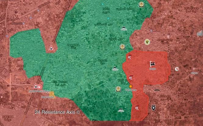 Quân đội Syria ép phe nổi dậy đang nguy khốn đầu hàng, tổng thống Assad thăm Đông Ghouta ảnh 1