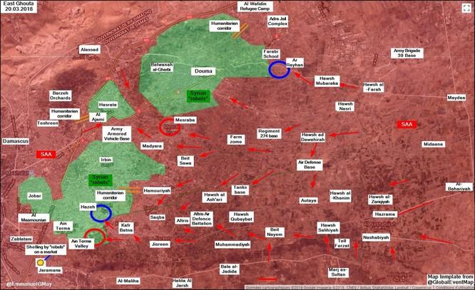 Sư đoàn cơ giới Syria ào ạt tấn công rửa hận tại sào huyệt thánh chiến Đông Ghouta ảnh 1