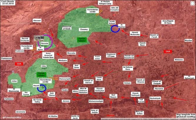 Phe thánh chiến đầu hàng, nộp 4 quận tại tử địa Đông Ghouta cho quân đội Syria ảnh 1