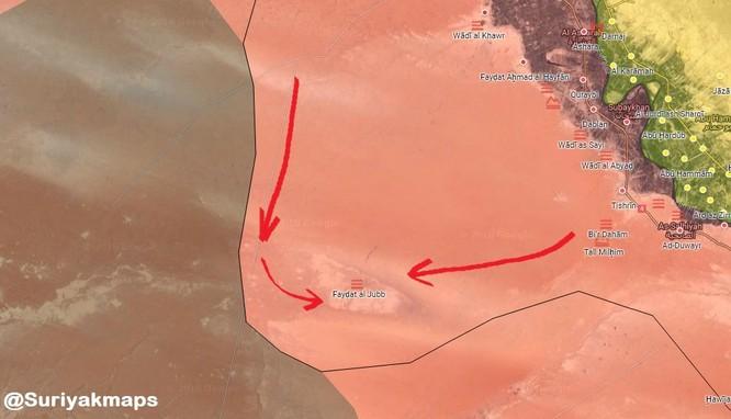 Nga càn quét yểm hộ, quân đội Syria đánh chiếm 600 km2 trên sa mạc Deir Ezzor ảnh 1