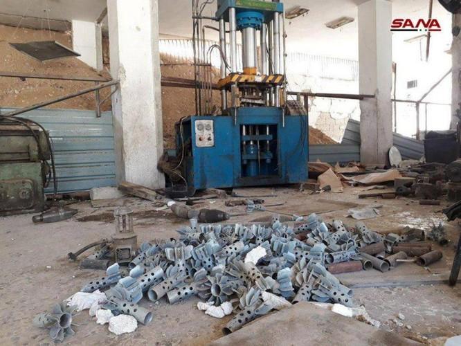 Quân đội Syria phát hiện kho đạn cối khổng lồ của phe thánh chiến tại tử địa Đông Ghouta ảnh 3