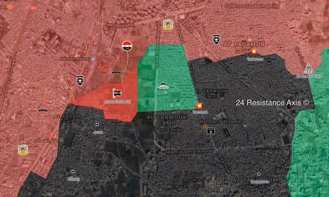 Quân đội Syria chuyển hướng đánh diệt IS cố thủ nam Damascus ảnh 1