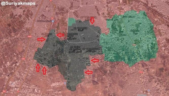 Cuộc chiến tàn khốc trong tử địa nam Damascus, Syria ảnh 1