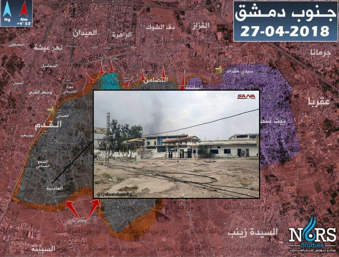Kinh hoàng chảo lửa ven Damascus, Syria ảnh 1