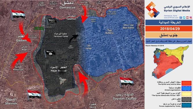 Quân đội Syria chiếm 1/3 tử địa Yarmouk, nhóm nổi dậy ở Damascus đầu hàng ảnh 1