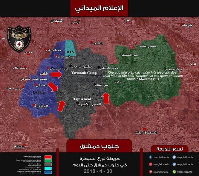 Quân đội Syria quyết diệt sạch IS trong chảo lửa Yarmouk sau vụ hành quyết ảnh 1