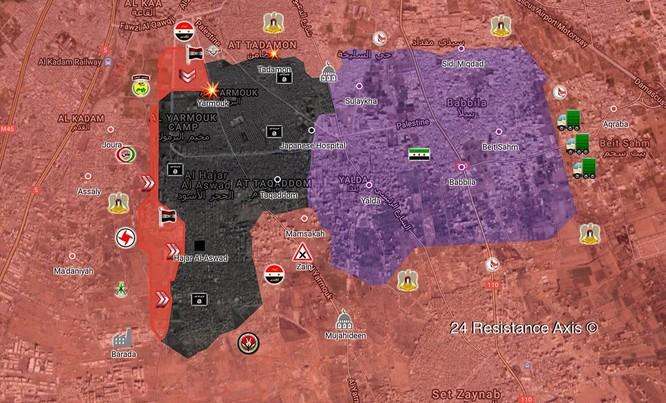 Quân đội Syria quyết kết liễu IS trong nồi hầm Yarmouk ảnh 1