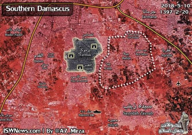 Khốc liệt cuộc chiến đường phố tại hỏa ngục Yarmouk, Syria ảnh 1