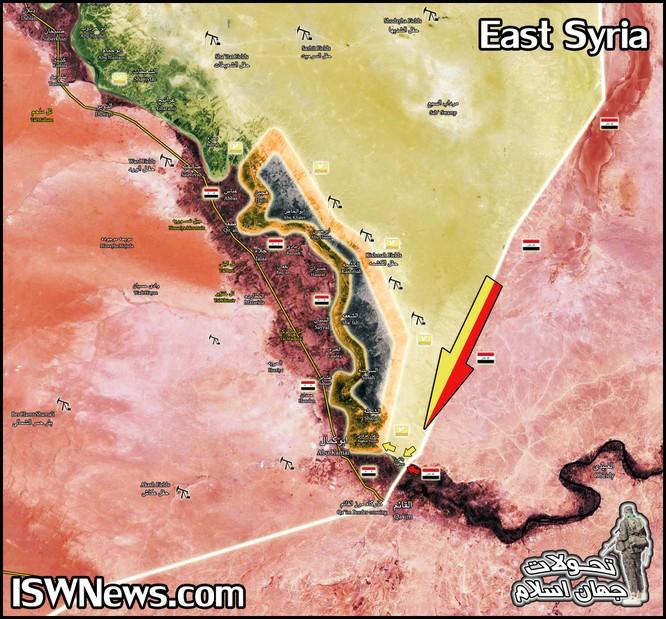 Quân đội Syria, SDF vây khốn IS trên bờ đông Euphrates ảnh 1