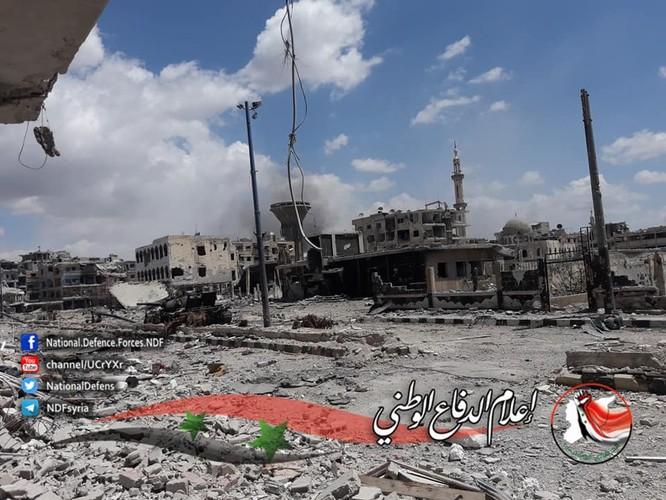 Quân tinh nhuệ Syria trút hỏa lực diệt IS trong nồi hầm Yarmouk ảnh 1