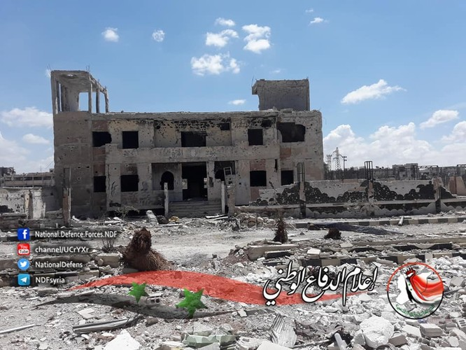 Quân tinh nhuệ Syria trút hỏa lực diệt IS trong nồi hầm Yarmouk ảnh 3