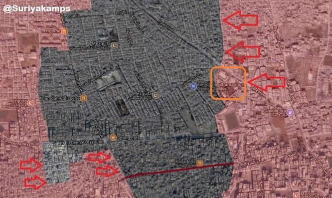 Cuộc chiến khốc liệt trên từng ngôi nhà góc phố trong tử địa Yarmouk, Syria (video) ảnh 1