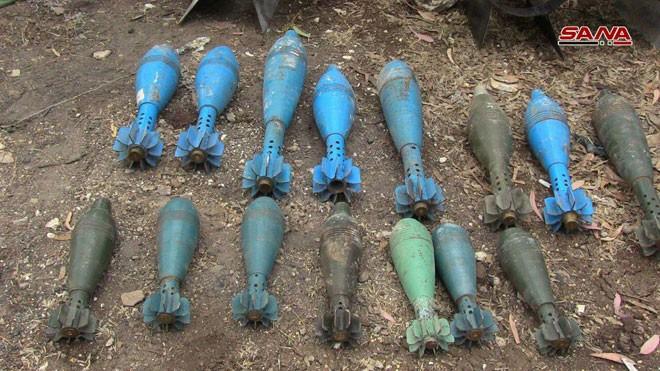 Quân đội Syria chiếm giữ lượng vũ khí khổng lồ của phe thánh chiến ở Homs ảnh 7
