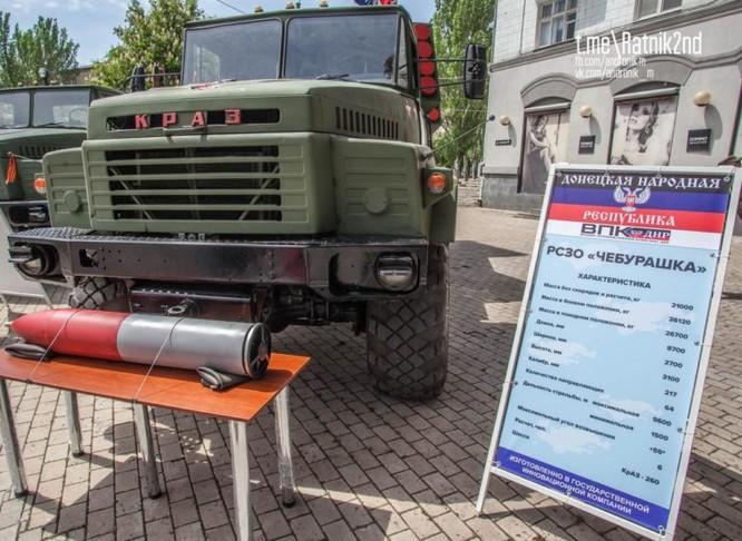 Dân quân Donesk dội lửa quân đội Ukraine bằng pháo phản lực tự chế ảnh 2