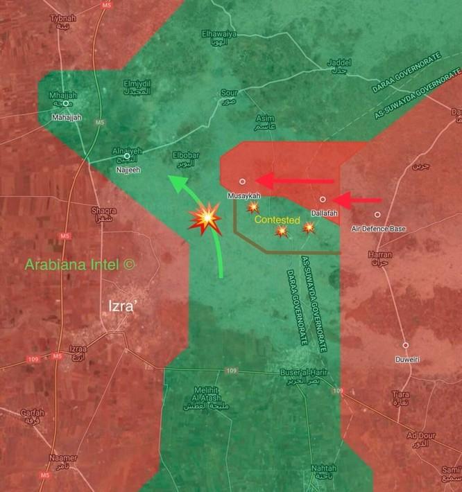 """""""Hổ Syria"""" pháo kích dữ dội tấn công lực lượng Hồi giáo cực đoan ở Daraa ảnh 1"""
