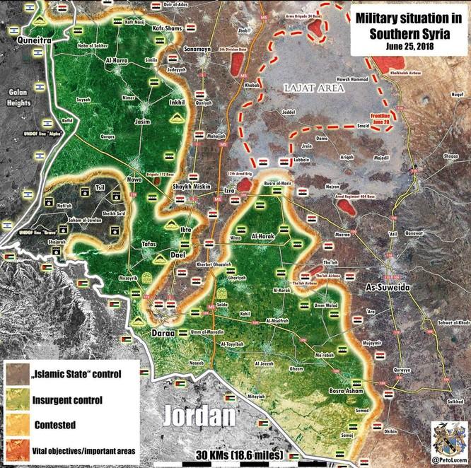 """""""Hổ Syria"""" giải phóng thị trấn chiến lược ở Daraa, thế trận Hồi giáo cực đoan sụp đổ ảnh 1"""