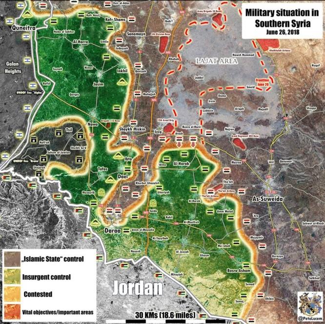 """""""Hổ Syria"""" đánh bạt khủng bố, giải phóng các làng cửa ngõ vào thành phố Daraa ảnh 1"""