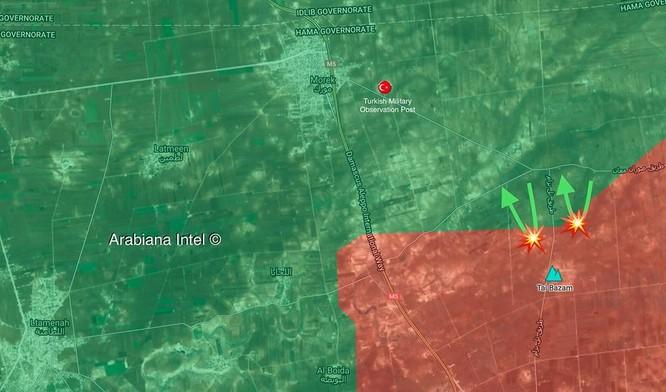 Quân đội Syria dội lửa hủy diệt phe thánh chiến tấn công trên mặt trận bắc Hama ảnh 1