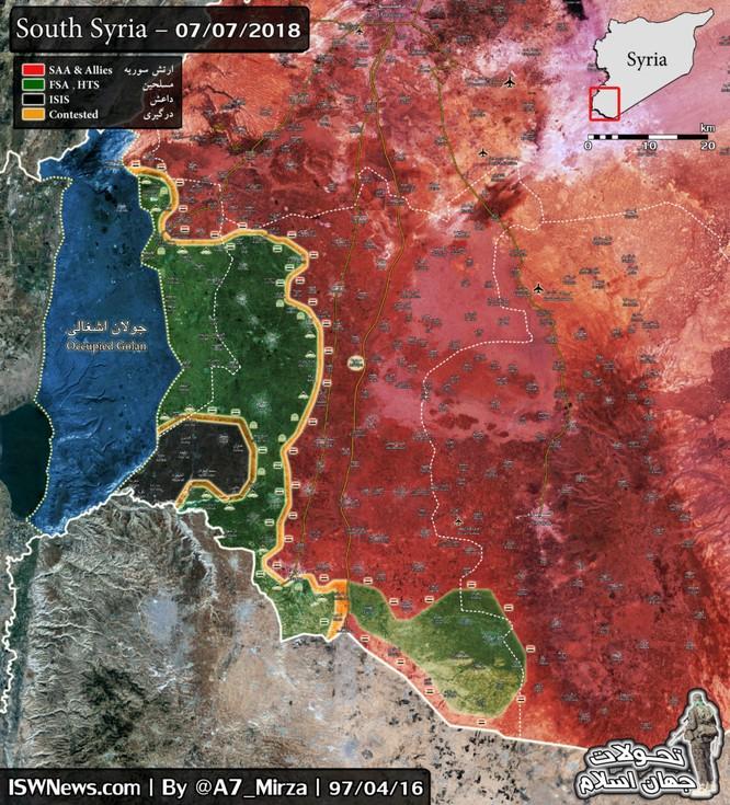 Nga yểm trợ quân đội Syria giải phóng hơn 70% chiến địa Daraa, FSA hoàn toàn sụp đổ ảnh 2