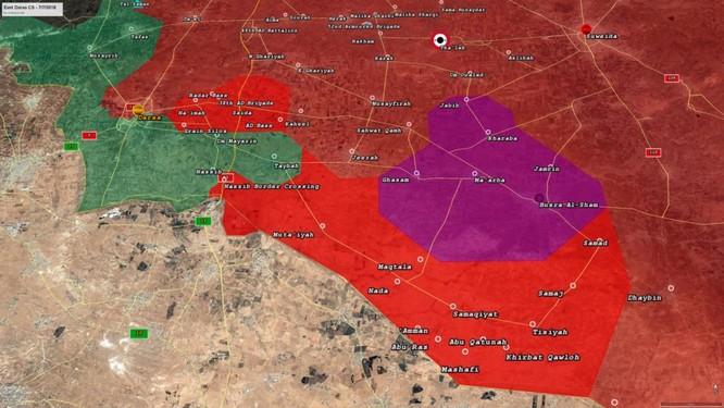 """""""Hổ Syria"""", sư đoàn cơ giới 4 giải phóng hàng trăm km2, sắp kết liễu thánh chiến tại Daraa ảnh 1"""