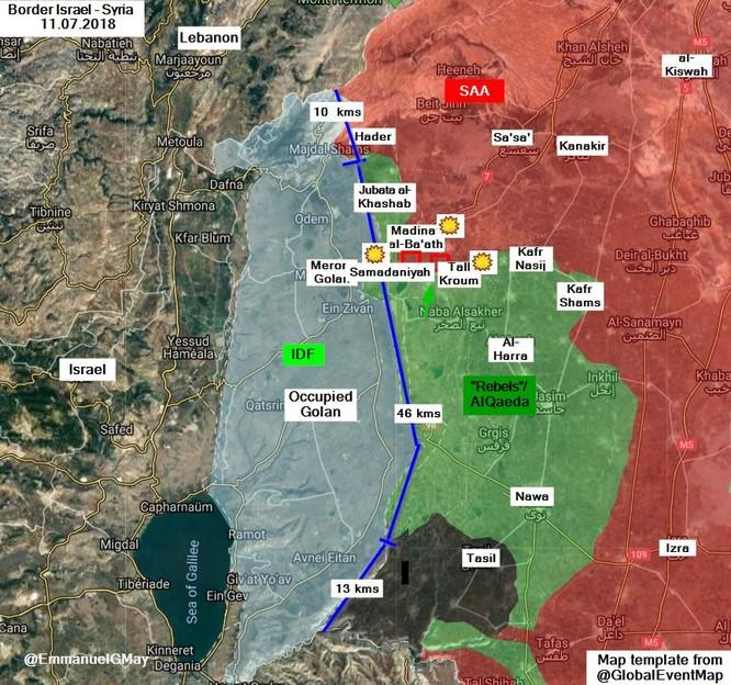 Israel tập kích phá hủy 3 trận địa quân đội Syria gần cao nguyên Golan ảnh 1