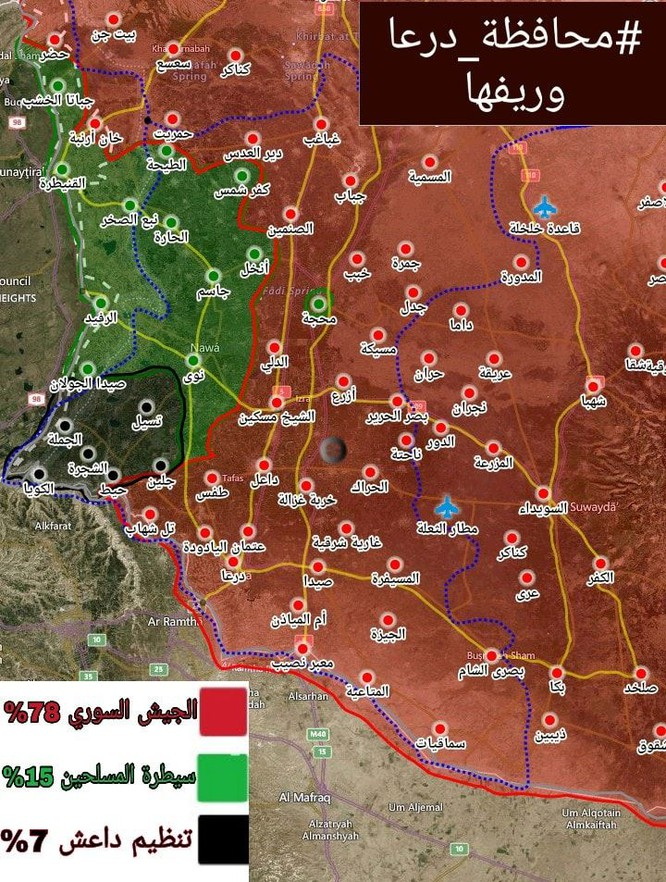 Quân cảnh Nga, quân đội Syria thượng cờ Syria tại cứ địa thánh chiến Tafas ảnh 1