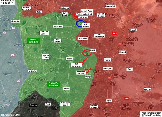 Phe thánh chiến đầu hàng, quân đội Syria bắt đầu tiếp nhận vũ khí ở Daraa ảnh 1