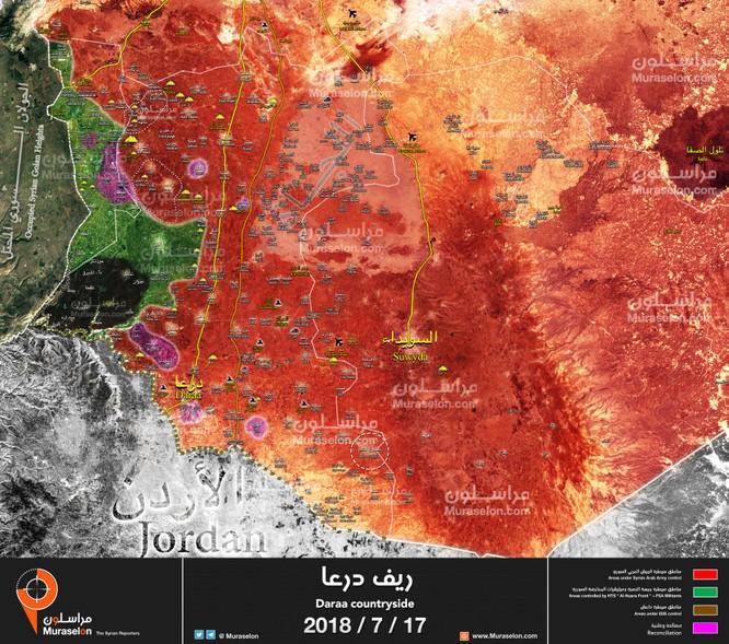 Quân đội Syria xung trận chiếm liên tiếp 6 cứ địa, 3 cao điểm thánh chiến ở Daraa ảnh 1