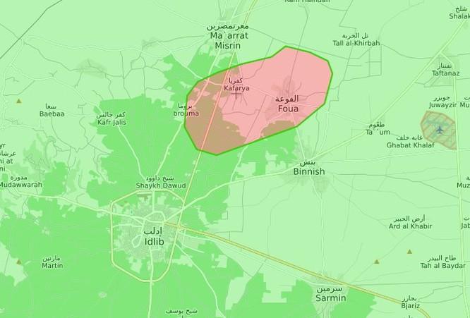 Syria sẽ di tản hàng nghìn dân trong hai thị trấn bị quân thánh chiến bao vây ở Idlib ảnh 1