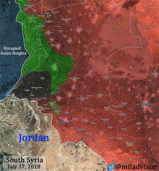 Quân đội Syria xung trận chiếm liên tiếp 6 cứ địa, 3 cao điểm thánh chiến ở Daraa ảnh 3