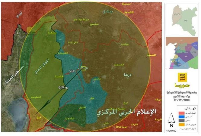 Quân đội Syria xung trận chiếm liên tiếp 6 cứ địa, 3 cao điểm thánh chiến ở Daraa ảnh 2