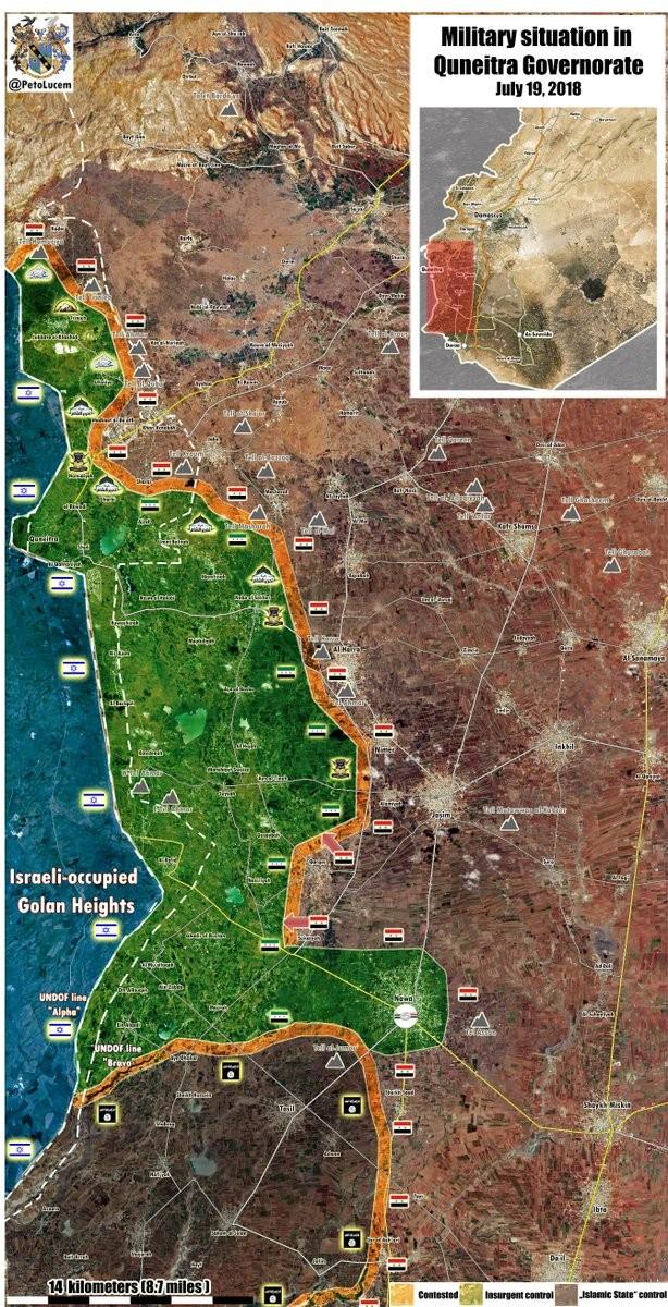 Quân đội Syria nghiền nát thánh chiến, giải phóng hầu hết tỉnh Quneitra ảnh 1