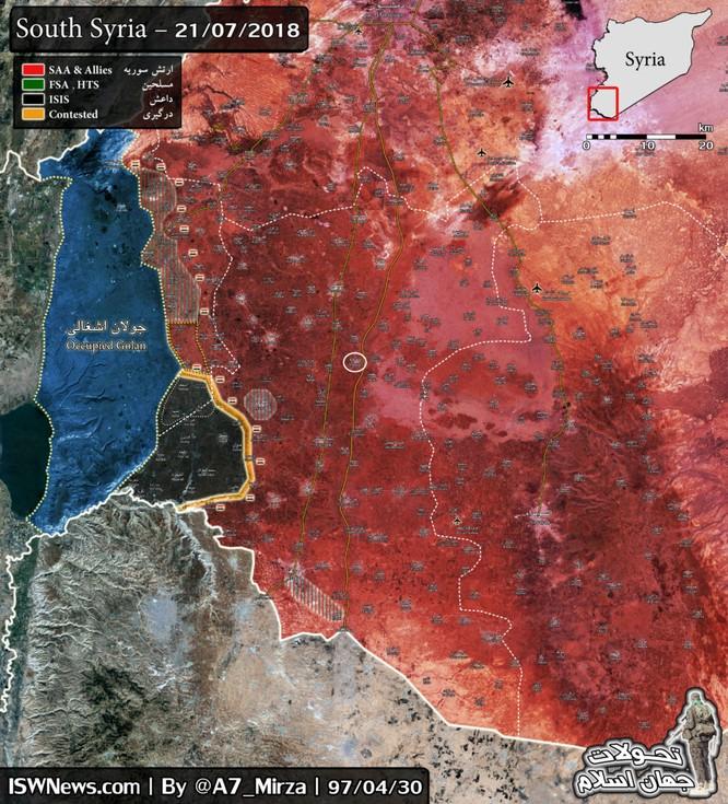Quân đội Syria chiếm hoàn toàn tỉnh Quneitra, di tản phe thánh chiến đầu hàng ảnh 1