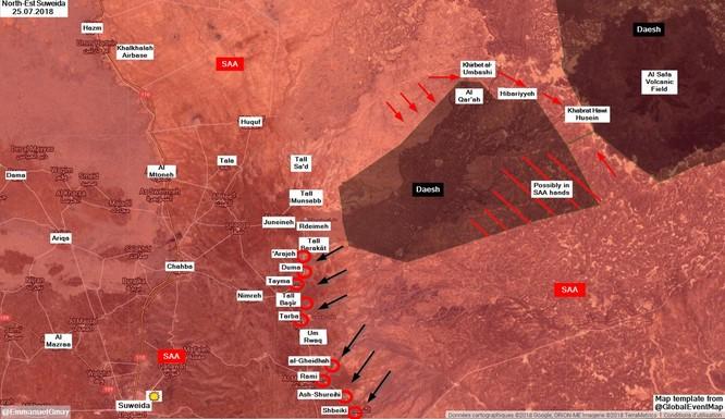 Quân đội Syria giáng đòn trừng phạt IS ở Sweida, hàng chục tay súng khủng bố mất mạng ảnh 2