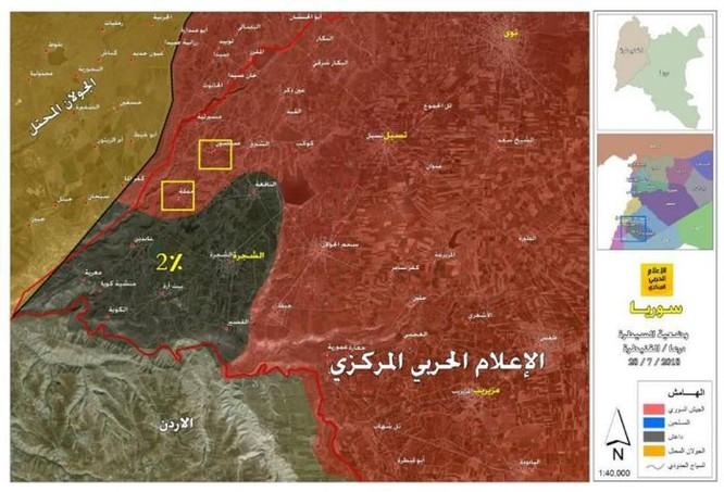 IS chỉ còn 2% diện tích Daraa, quân đội Syria chuẩn bị xóa sổ hoàn toàn nhóm khủng bố ảnh 1
