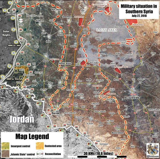 """""""Hổ Syria"""", sư đoàn cơ giới số 4 tốc chiến chiếm thêm loạt cứ địa IS ở Yarmouk, Daraa ảnh 2"""